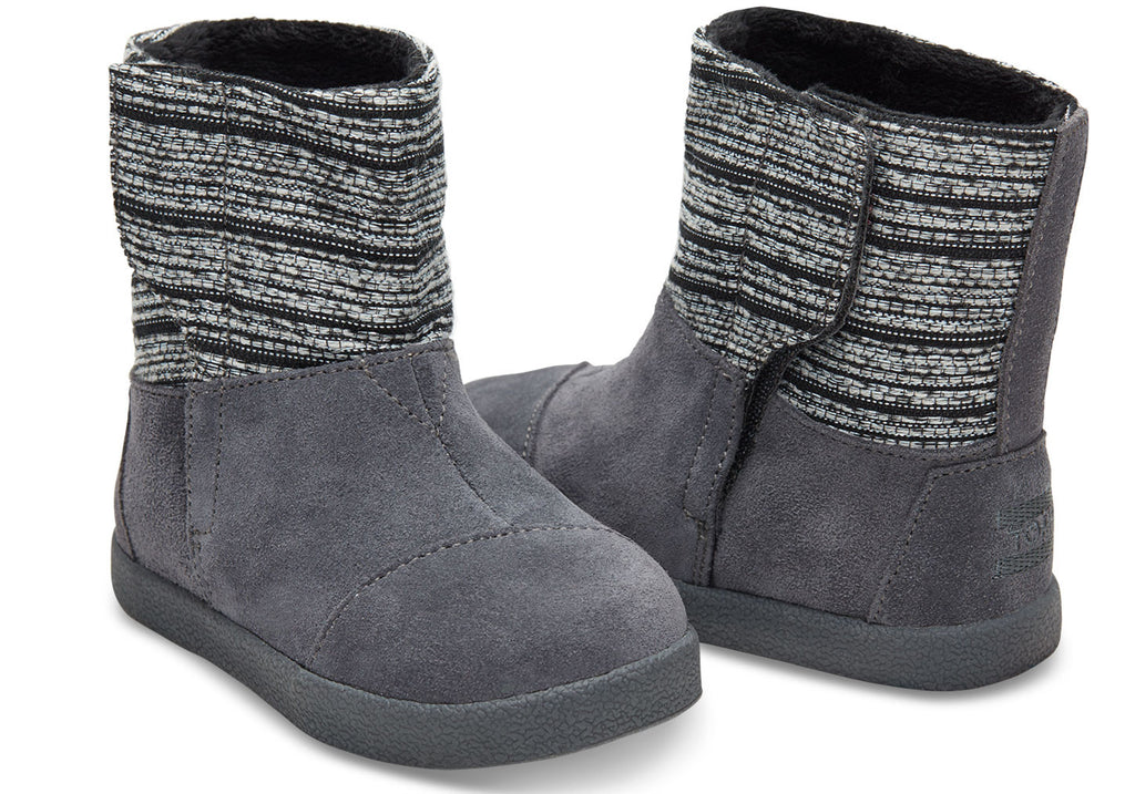 CASTLEROCK METALLIC WOVEN/SUEDE TINY TOMS NEPAL BOOTS