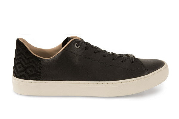 BLACK LEATHER MEN'S LENOX SNEAKERS - SustainTheFuture.us - The Natural and Organic Way of Life