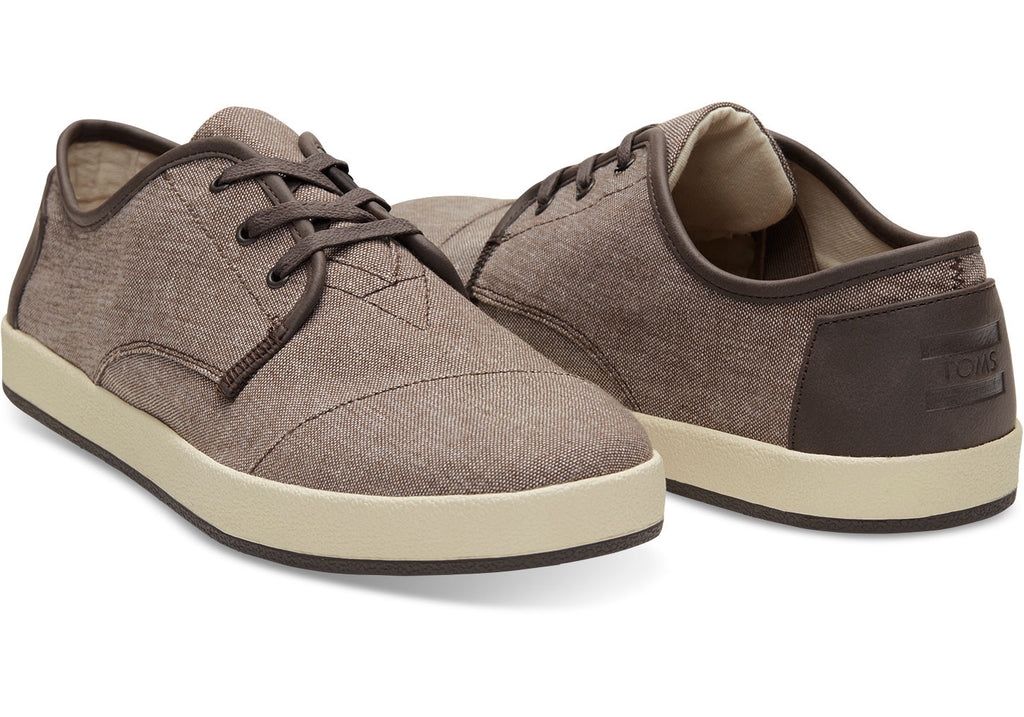 BROWN CHAMBRAY MEN'S PASEO SNEAKERS