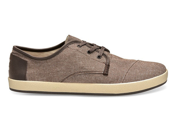BROWN CHAMBRAY MEN'S PASEO SNEAKERS - SustainTheFuture.us - The Natural and Organic Way of Life