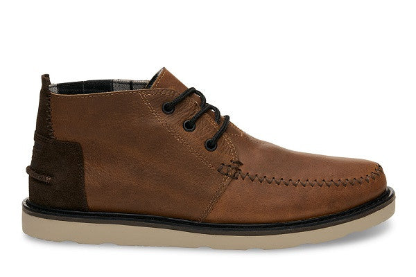 BROWN LEATHER WATERPROOF MEN'S CHUKKA BOOTS - SustainTheFuture.us - The Natural and Organic Way of Life