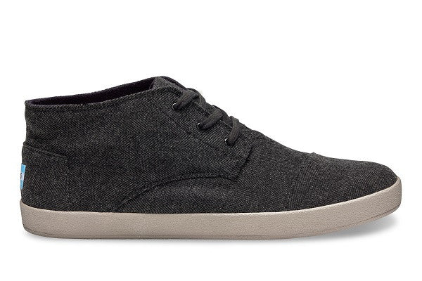 GREY HERRINGBONE MEN'S PASEO-MIDS SNEAKERS