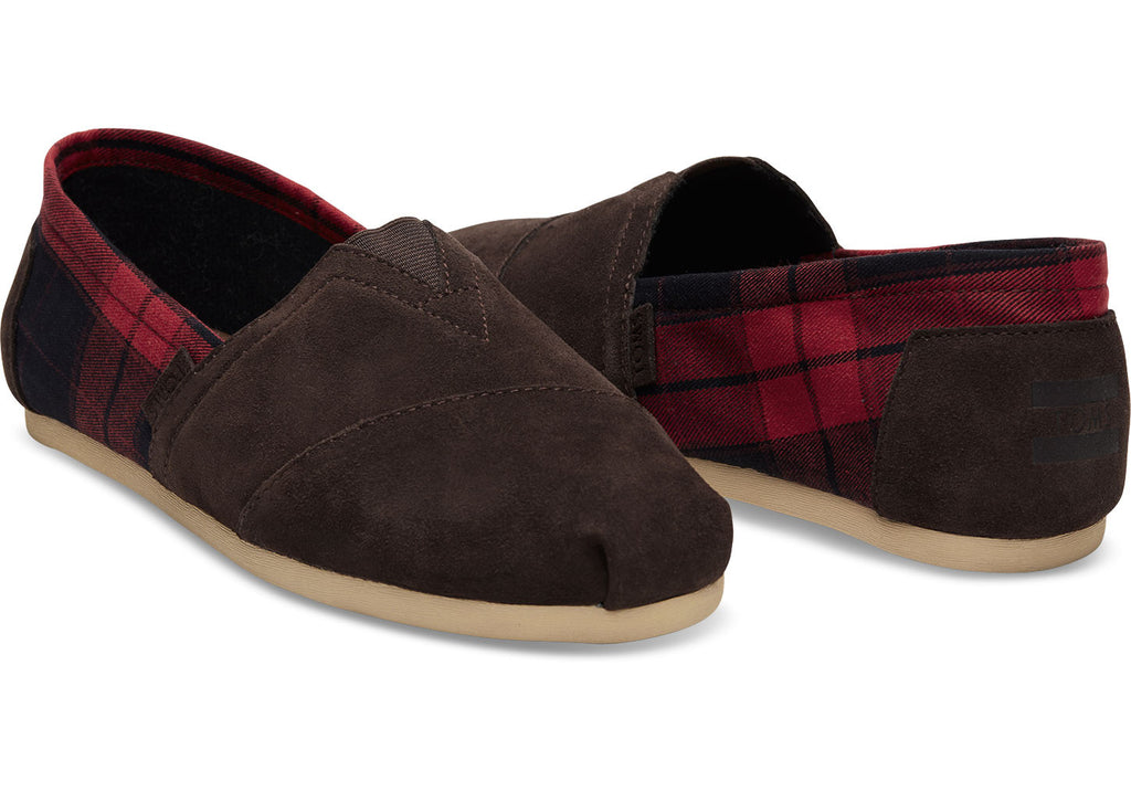 NAVY SUEDE BLACK PLAID MEN'S CLASSICS - SustainTheFuture.us - The Natural and Organic Way of Life
