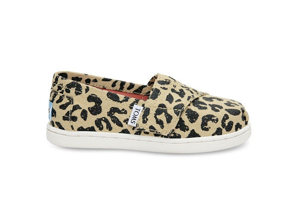 CHEETAH METALLIC LINEN TINY TOMS CLASSICS - SustainTheFuture.us - The Natural and Organic Way of Life