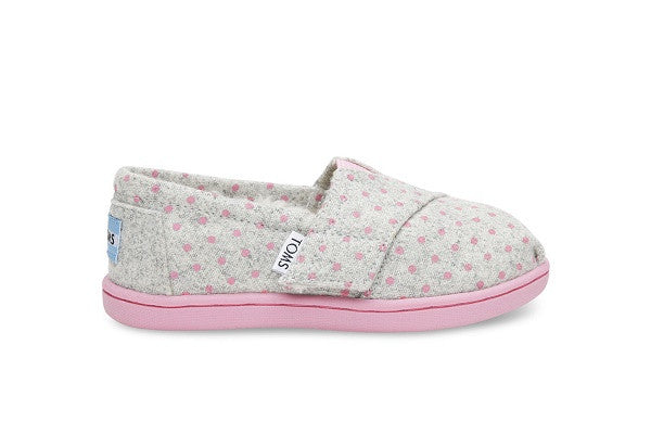 GREY WOOL POLKA DOT TINY TOMS CLASSICS - SustainTheFuture.us - The Natural and Organic Way of Life