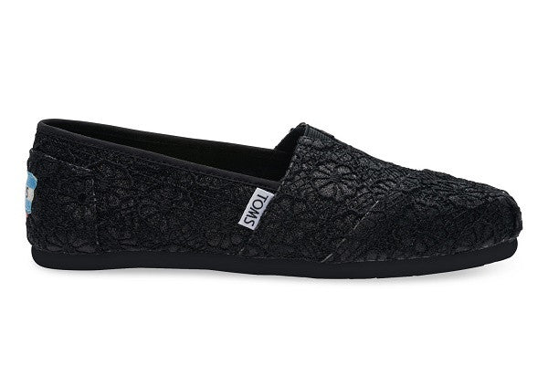 BLACK CROCHET GLITTER WOMEN'S CLASSICS - SustainTheFuture.us - The Natural and Organic Way of Life