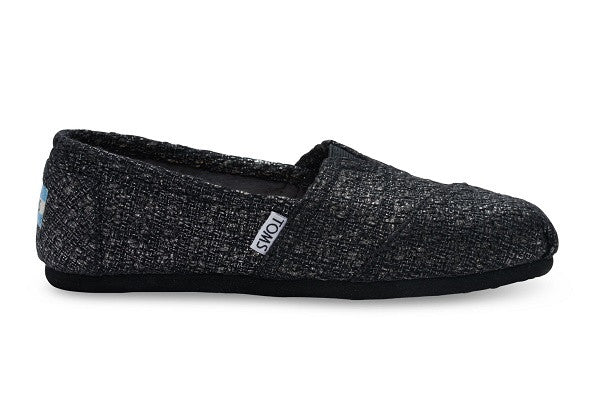 BLACK GLITTER WOOL WOMEN'S CLASSICS - SustainTheFuture.us - The Natural and Organic Way of Life