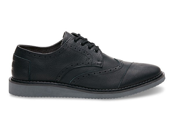 BLACK FULL GRAIN LEATHER MEN'S BROGUES - SustainTheFuture.us - The Natural and Organic Way of Life