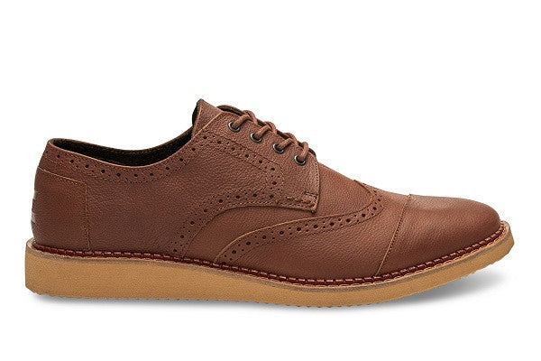BROWN FULL GRAIN LEATHER MEN'S BROGUES - SustainTheFuture.us - The Natural and Organic Way of Life