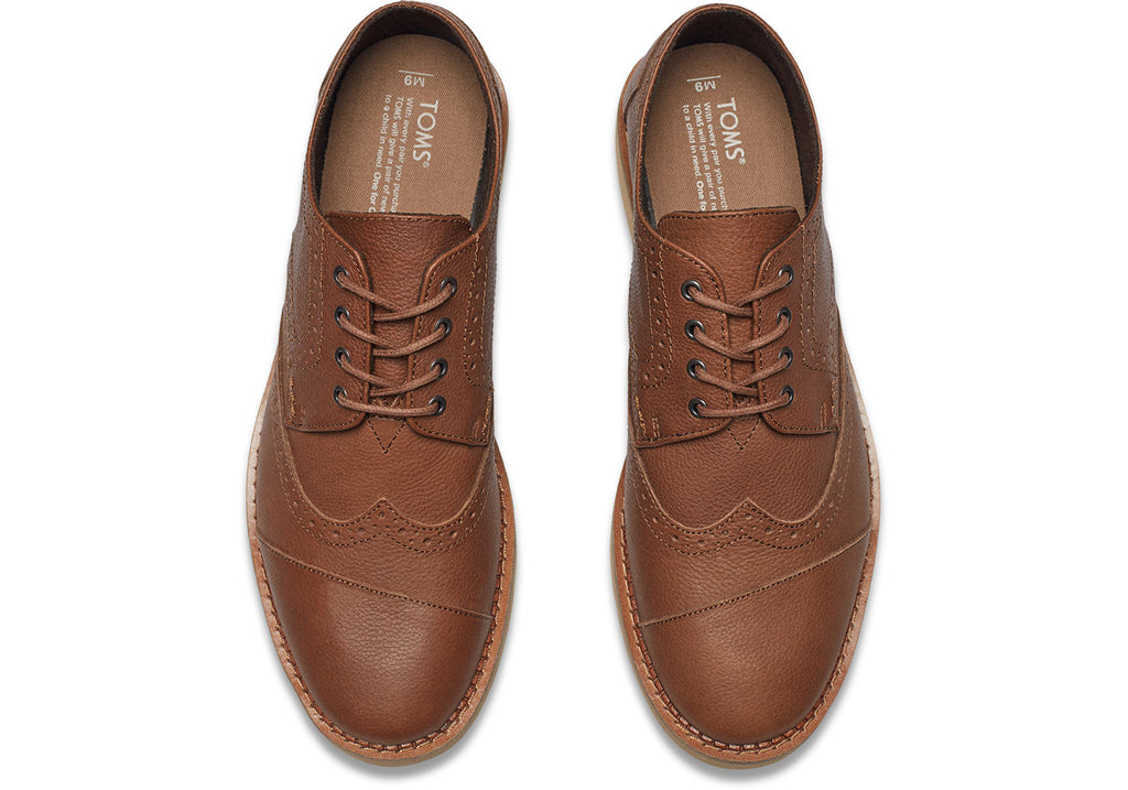 BROWN FULL GRAIN LEATHER MEN'S BROGUES