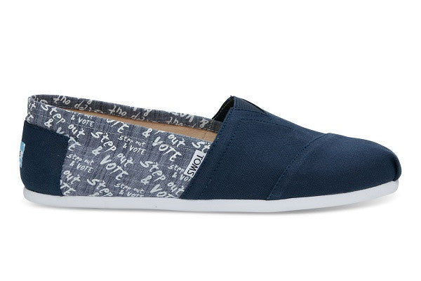 NAVY CANVAS VOTE MEN'S CLASSICS