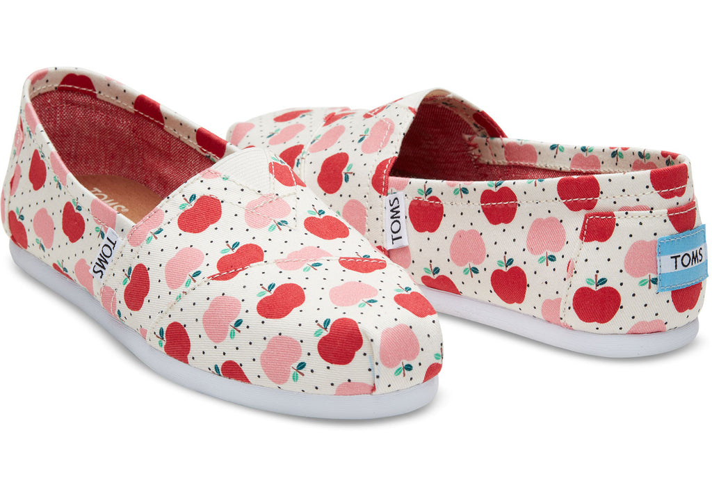 APPLES PRINT CANVAS WOMEN'S CLASSICS - SustainTheFuture.us - The Natural and Organic Way of Life