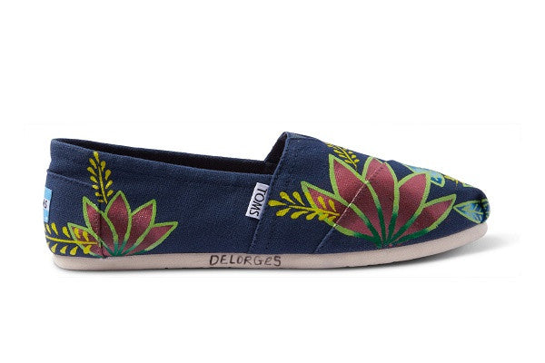 HAITI ARTIST COLLECTIVE NAVY FLORAL WOMEN'S CLASSICS