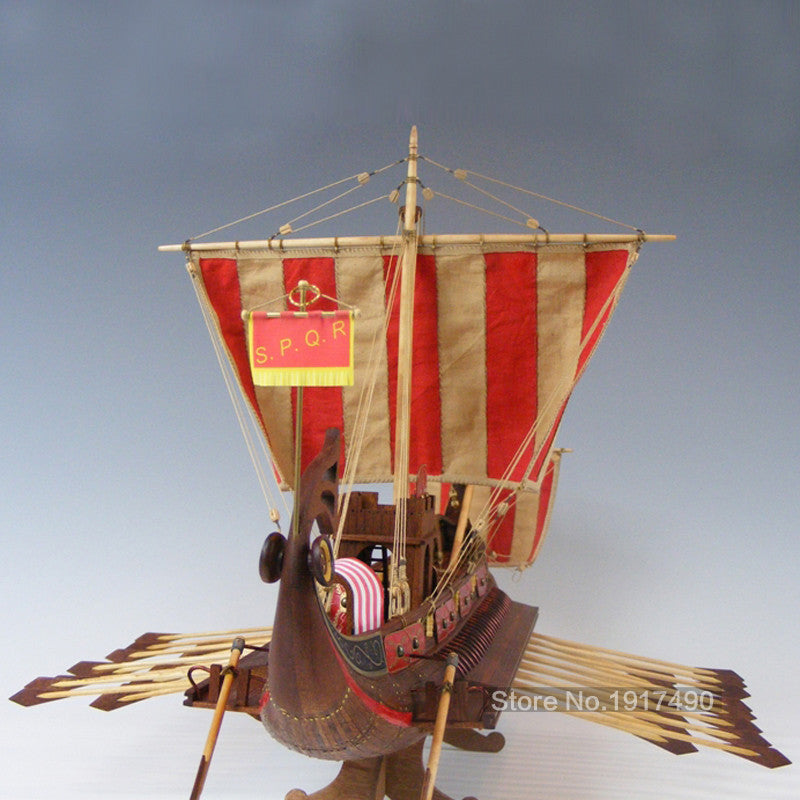 Wooden Ship Models Kits 3d Laser Cut Scale 1/50 Model-Ship-Assembly Train Hobby Model-Wood Educational Toy Roman Warship-CAESAR