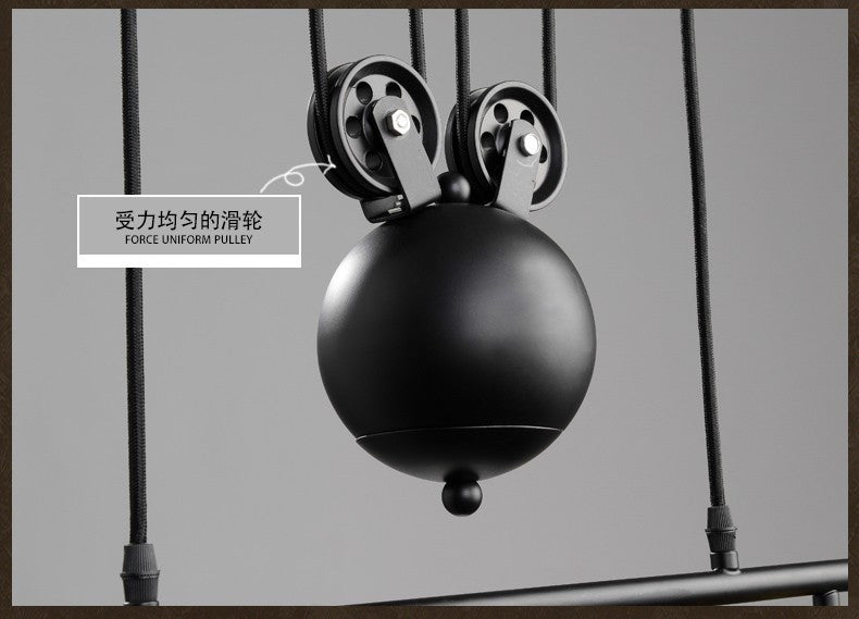 1/2/3 Head Lifting Pulley Industrial  Pendant Light American Country Vintage Loft Pulley lamp bar hotel Dining Room decoration