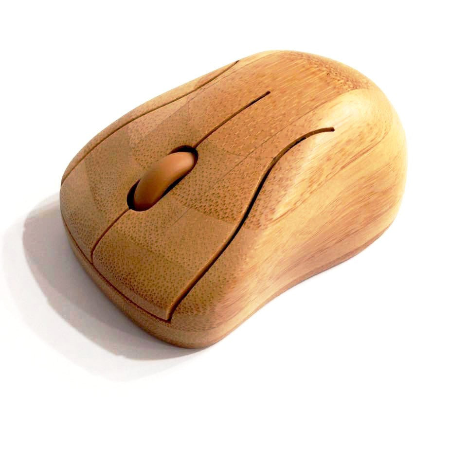 2016 Original Bamboo 2.4G Wireless Mouse,Natural Handmade Optical wooden Wireless Mice With USB Receiver for Laptops/Desktop Computer