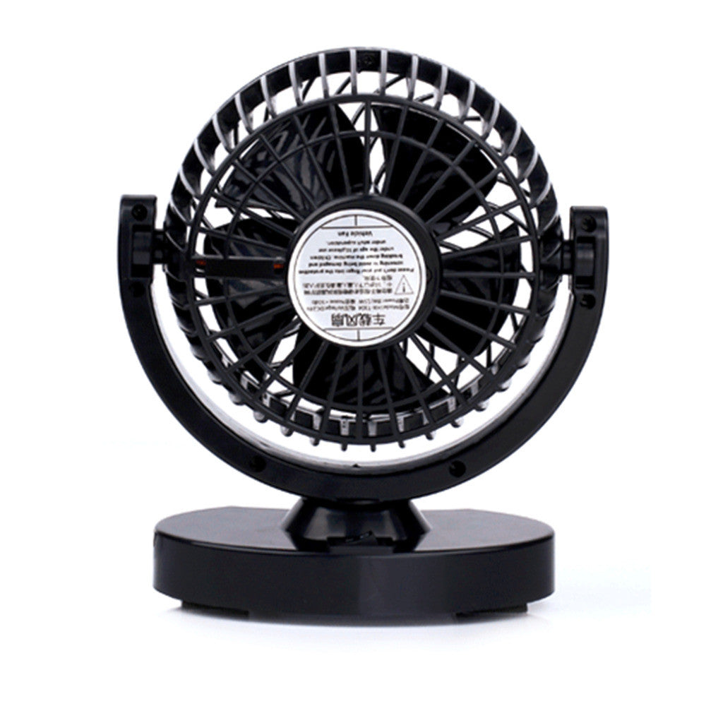 2016  Electric Car Fan Low Noise Summer Car Air Conditioner 12V 360 Degree Adjustable Strong Wind Mini Car Fan Air Cooling Fan