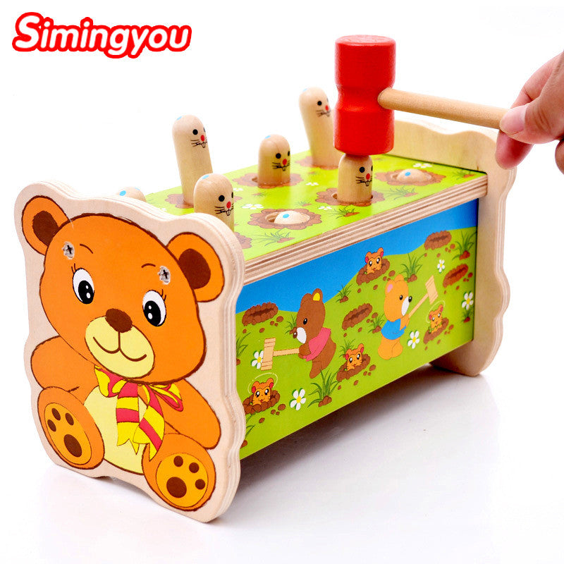 11 11 2016 Simingyou Noise Maker Montessori Wooden Toys For Children Wood  Baby Toys Musical Instrument Wood Sound Knock Ball