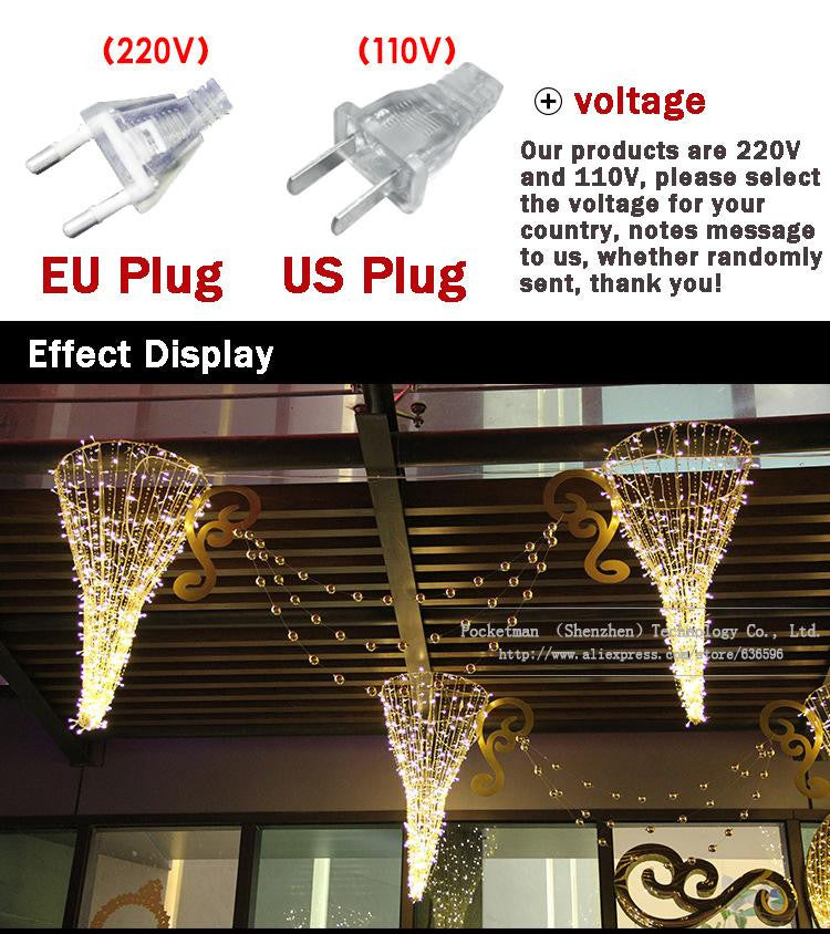 1pieces 100 LED 10m led String Light for Holiday Party Wedding led christmas lighting Free shipping zk64
