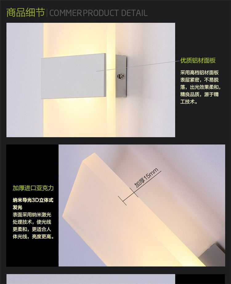 12W Led Wall Light UP & Down AC220V AC110V  Stair Bedside Lamp Bedroom reading wall lamp Porch Stair Decoration light