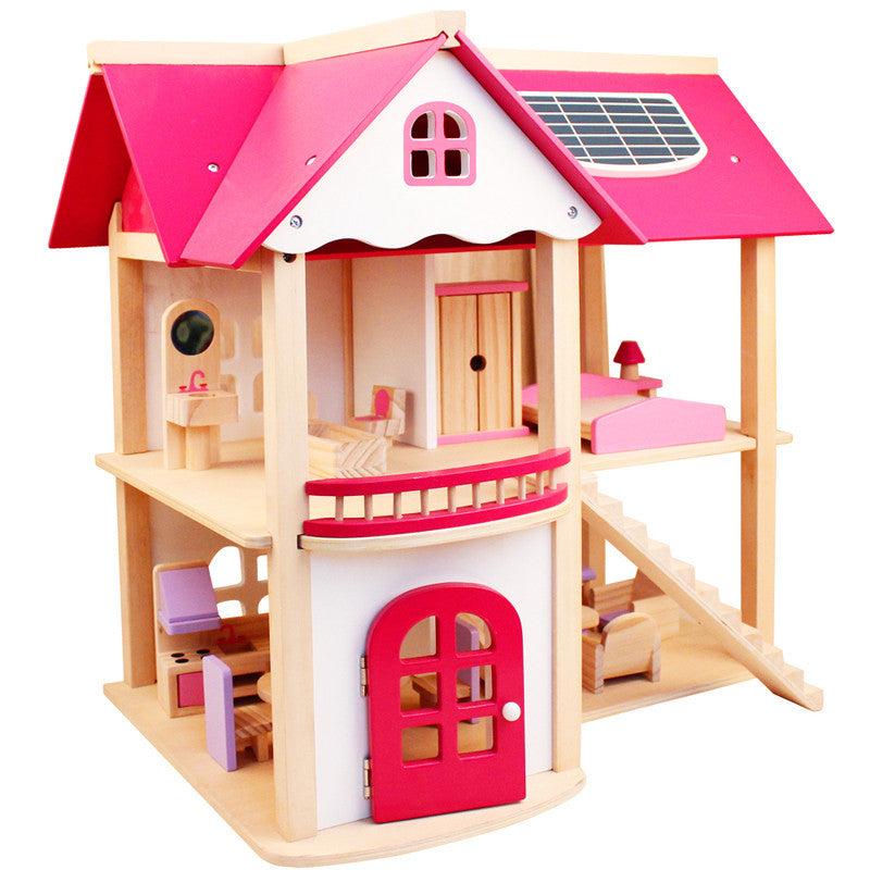 Montessori Kids Toy Pink Kids Room Building Resemble DIY Wood Preschool Brinquedos Juguets