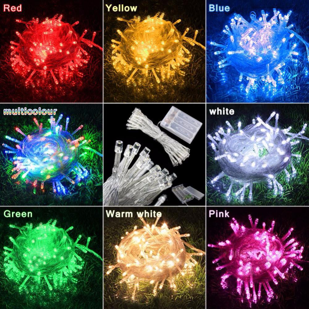 3M 30 LED Battery Operated LED String Lights for Xmas Garland Party Wedding Decoration Christmas Flasher Fairy Lights