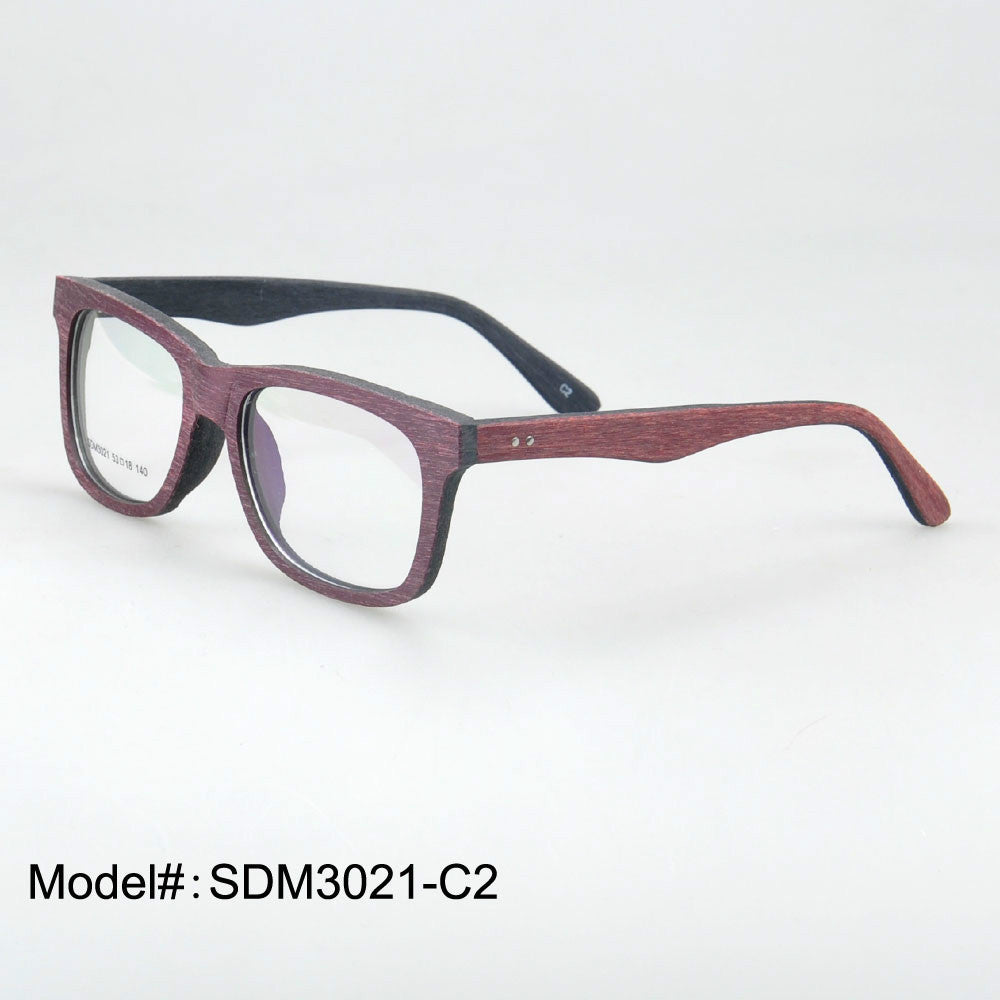3021 nature wood acetate optical frame prescription glasses myopia eyewear hyperopia spectacles