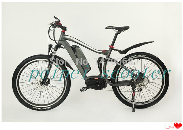 26inch high configuration mid motor electric bicycle with SAMSUNG li-battery(pseb-41) - SustainTheFuture.us - The Natural and Organic Way of Life