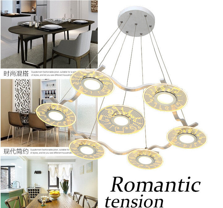 2016 Newest contemporary and contracted loft chandelier 5W LED  acrylic UFO desgin restaurant pendant lamp cafe droplight
