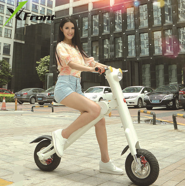 Original X-Front Brand Folding bike Smart music LED Electric Scooter 48V 10A 350w Battery electric bicycle ET vehicle ebike