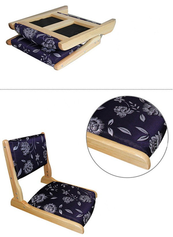 (2pcs/ lot) Japanese Tatami Chair Living Room Floor Seating Furniture Natural Finish Folding Legless Zaisu Tatami Chair Design