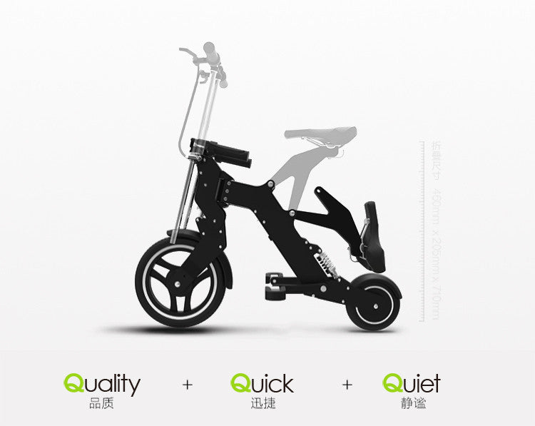 AK- ultra portable folding electric bicycle riding two wheeled bicycle lithium battery