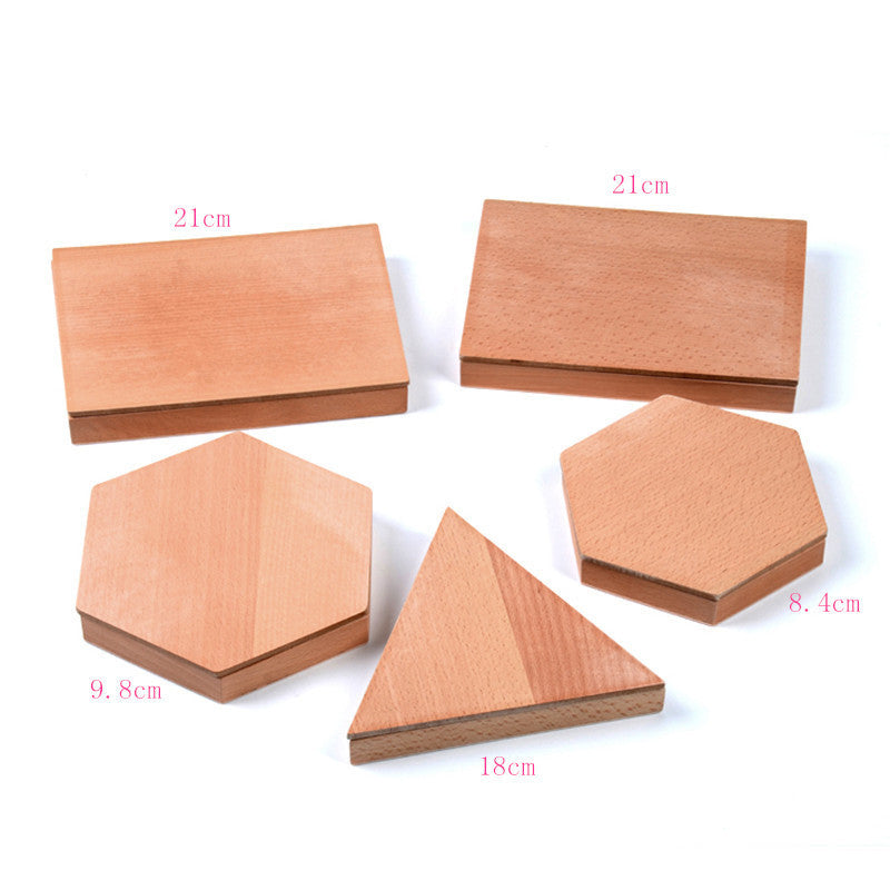 Family Version Baby Toy Montessori Constructive Triangles With 5 Boxes Early Childhood Education Preschool Training Toys