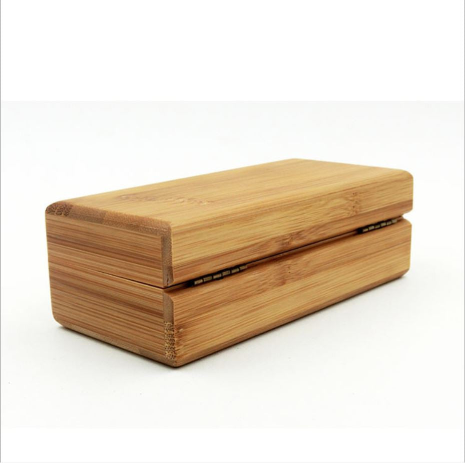 2016 Hot Vintage Handmade cuboid Glasses box Natural Bamboo Sunglasses Protector Case Storage Holder Wood glasses case