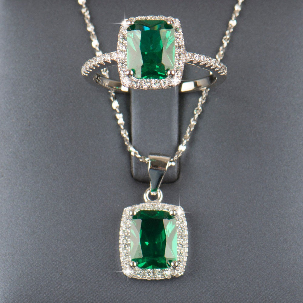 pendant odyssey gold emerald necklace crowne products white natural diamond