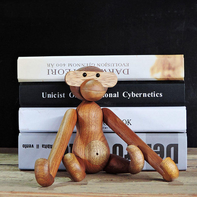 High Quality Teakwood Monkey Original Design Wooden Toy Puppet