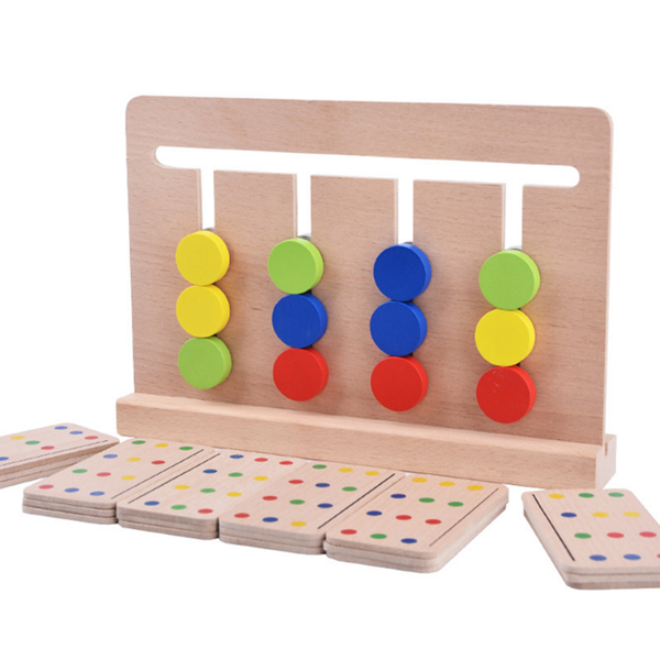 1 Set Baby Four Color Cognitive Toys for Children Early Childhood Montessori Teaching Aids Enlightenment Educational Game Gifts