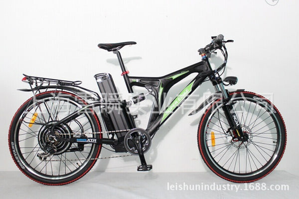 48 v, 1000 w electric bicycle Before and after the suspension + shiman oil brake + 20 ah Lithium battery design - SustainTheFuture.us - The Natural and Organic Way of Life