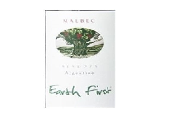 2015 EARTH FIRST MALBEC MENDOZA 750ML Organic Red Wine - SustainTheFuture.us - The Natural and Organic Way of Life