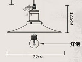 American Retro Loft Style Industrial Lighting Fixtures Vintage Pendant Lamp with 6 Edison bulb Lights Lamparas Colgantes