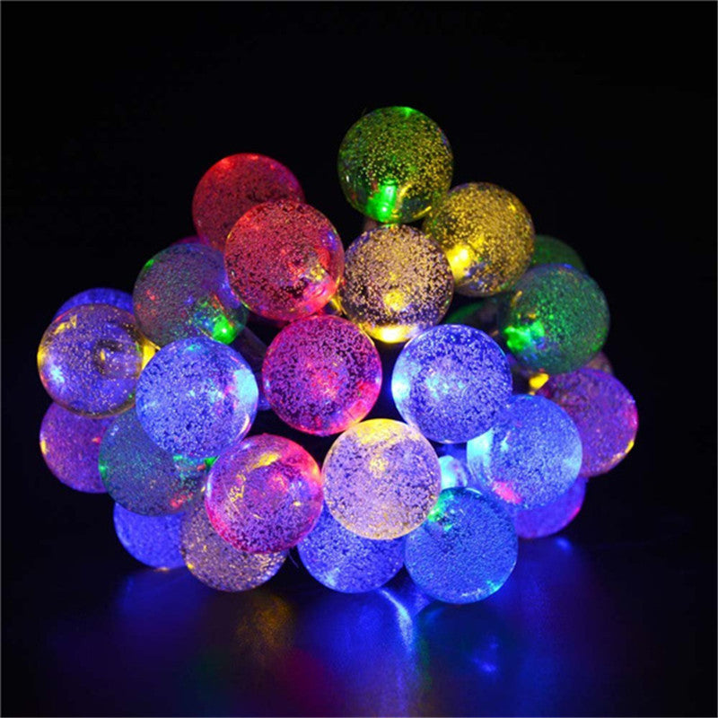 20ft 30 LED Crystal Ball Solar Powered lederTEK Brand Most Popular Globe Fairy Lights for Outdoor Garden Christmas Decoration