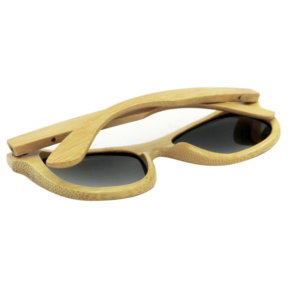 2016 Cool Wooden Sunglasses Unisex Summer Style Bamboo Sun glasses Brand Designer Natural Wood Goggles Eyewear 5 Colors