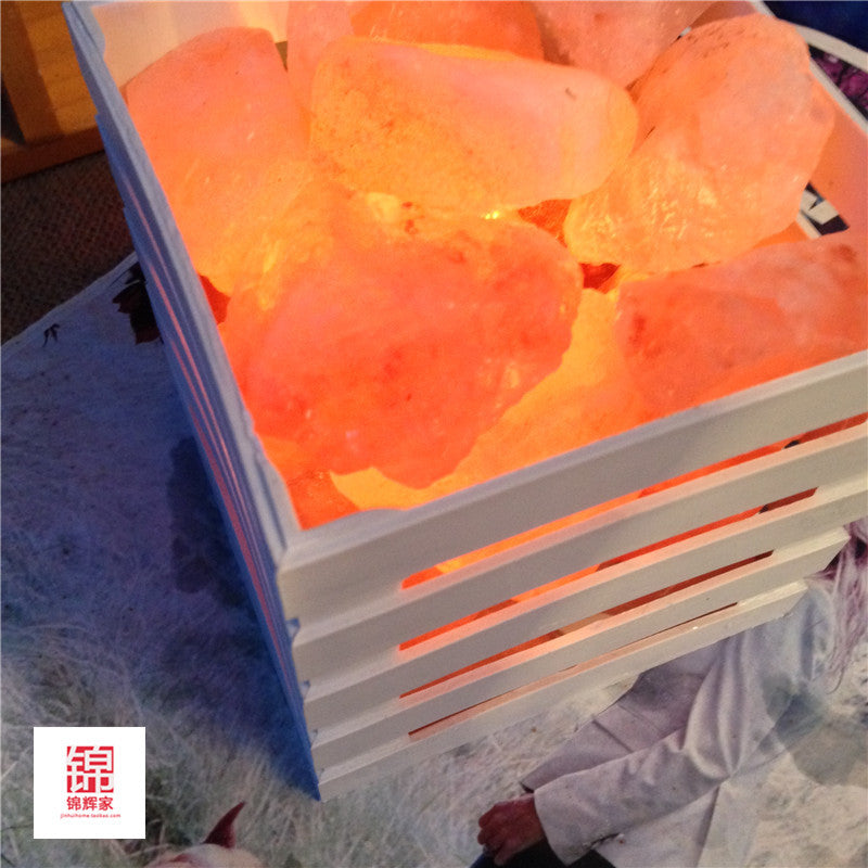HOT resin Himalayan crystal salt lamp table lamp light bedroom adornment night light lampsof the head of a bed