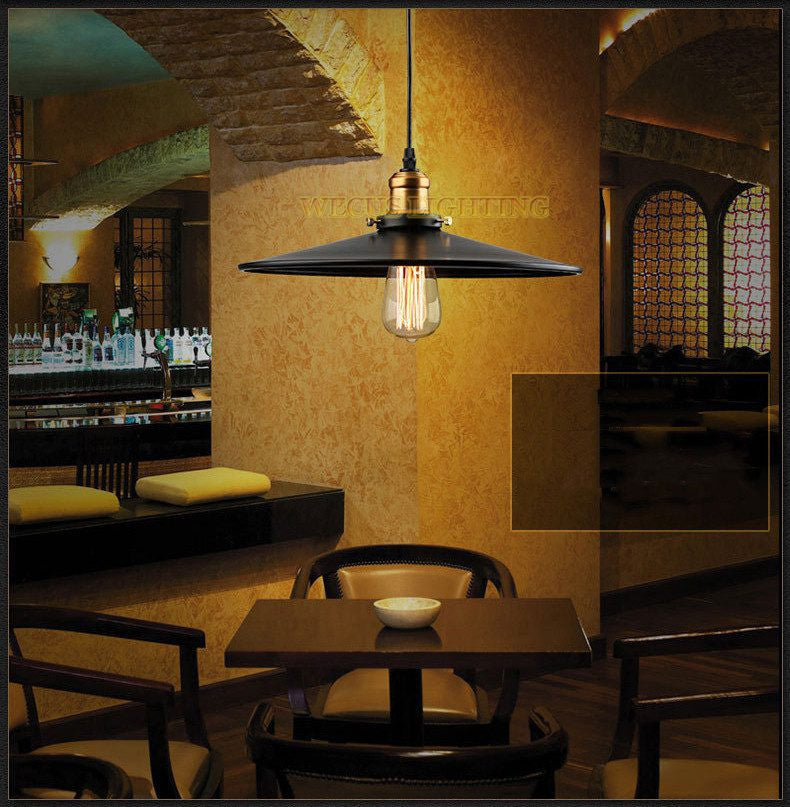 (Wecus) American Edison loft pendant light Vintage Industrial Retro lamp warehouse restaurant dining room bar hanging lamp