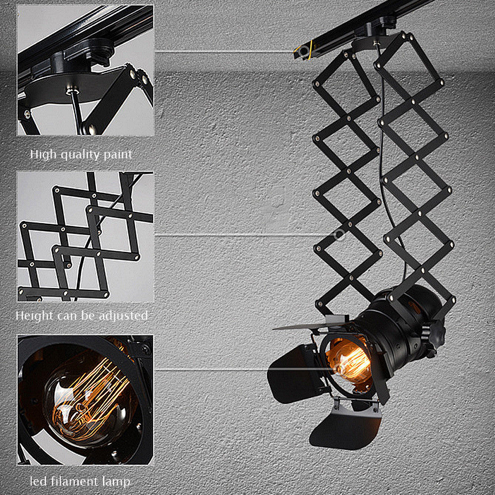 Arts lamp track light retro space modern minimalist American country industrial personalized clothing store spotlights Ceiling