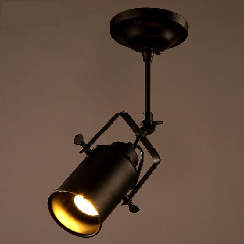 1/2/3/4 heads Industrial ceiling  light  loft  track light Vintage American rural bar light industry personality  track lamp