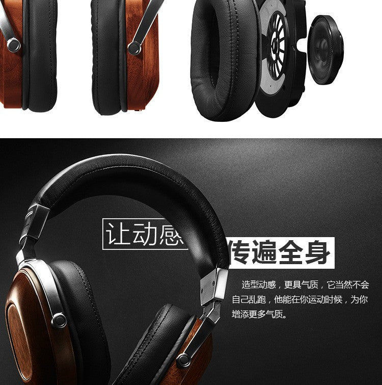 DIY headphone HIFI wooden headset 50mm speaker