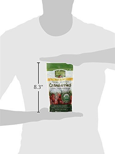 Paradise Meadow Organic Premium Dried Cranberries, 5-Ounce -  No preservatives