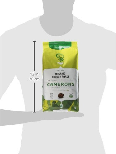 Cameron's Organic Whole Bean Coffee, French Roast, 32 Ounce -  Organic, natural