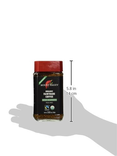 2 Pack Mount Hagen Organic Decaffeinated Instant Coffee 3.5oz/100g - 100% Arabica - SustainTheFuture.us - The Natural and Organic Way of Life
